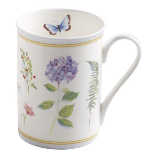 Maxwell & Williams Butterfly Garden Beker met oor - blauw
