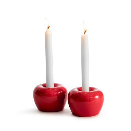 Born in Sweden Apple kandelaar ø 5cm - rood - 2 stuks