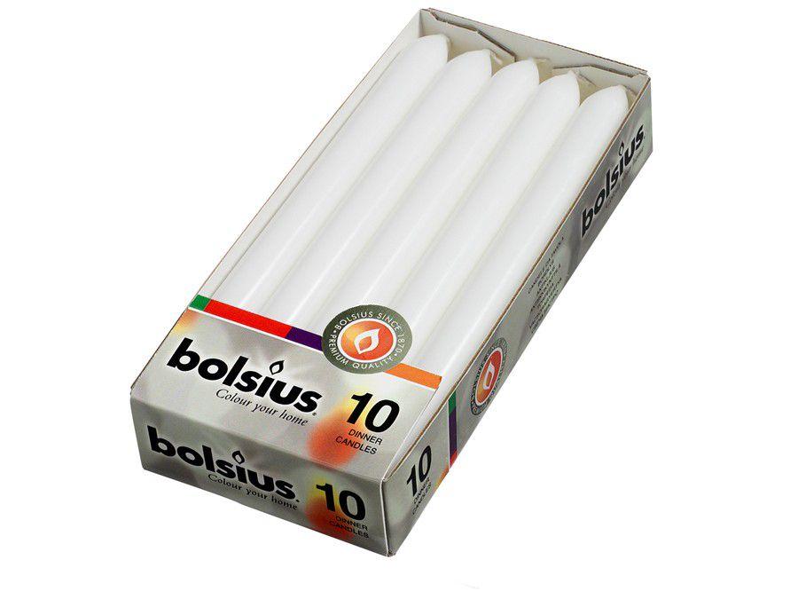 Bolsius dinerkaarsen wit - 10 stuks