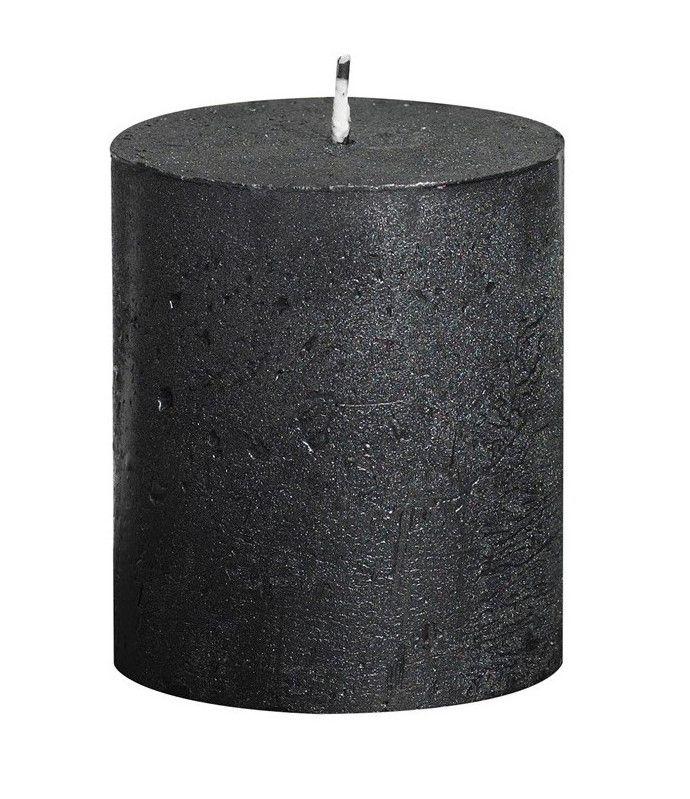 Bolsius stompkaars Metallic antraciet 80/68 mm