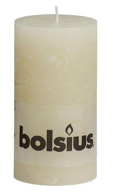 Bolsius stompkaarsen Rustiek ivoor 130/68 mm