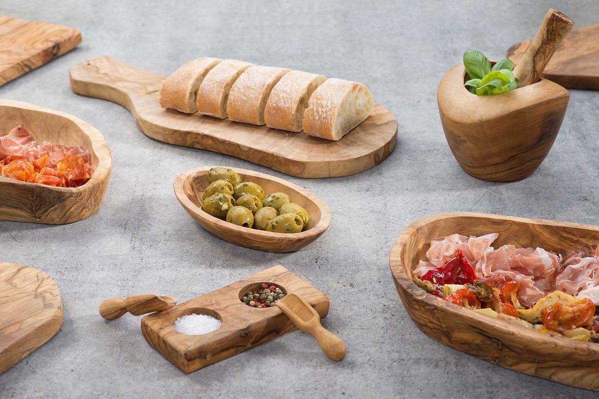 Cosy Trendy serveerkrat olijfhout