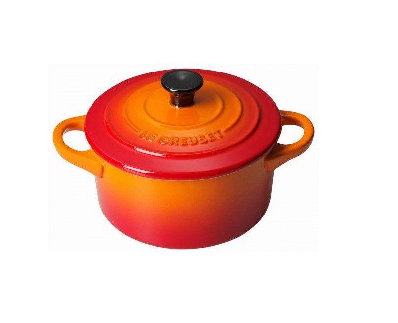 Le Creuset mini braadpan Signature oranje-rood