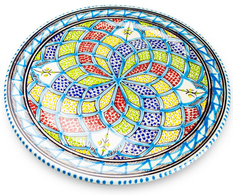 Dishes_Deco_Onderbord_Turquoise_Blue_33_cm