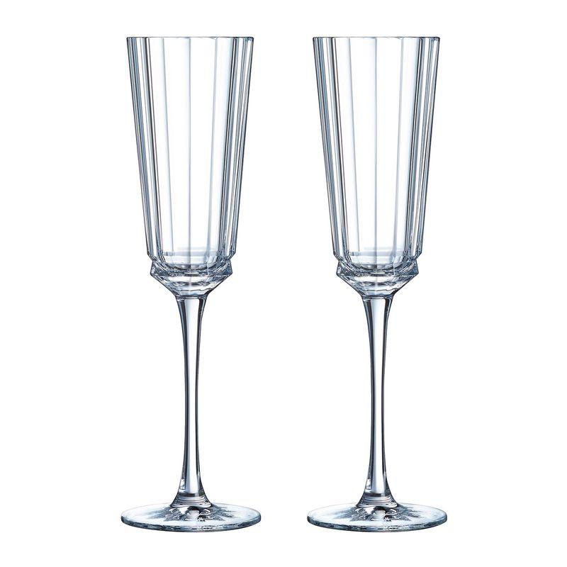 Cristal d'Arques champagneglazen Macassar 17 cl - 2 stuks