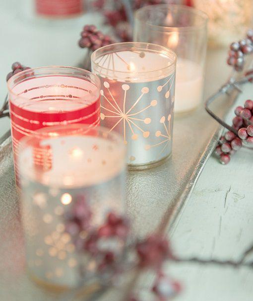 Bolsius kaarsen Sparkle Light lint rood - 2 stuks sfeer
