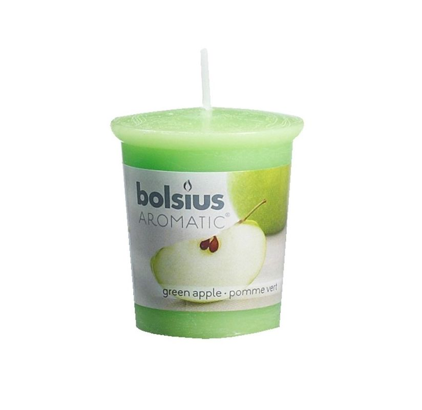 Bolsius geurkaarsje Aromatic Green Apple 53/45 mm