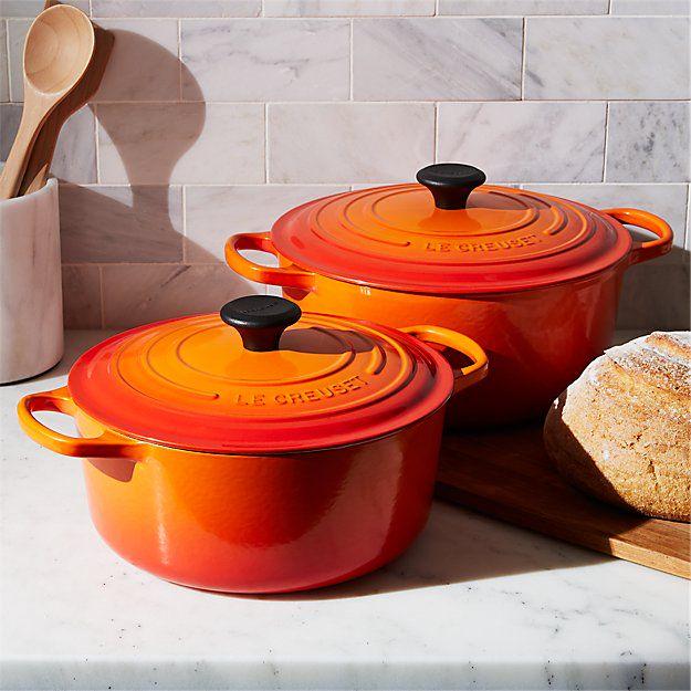 Le Creuset braadpan Signature oranje-rood Ø 22 cm sfeer