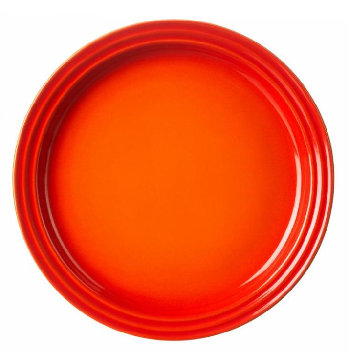 Le Creuset dinerbord oranje-rood Ø 27 cm