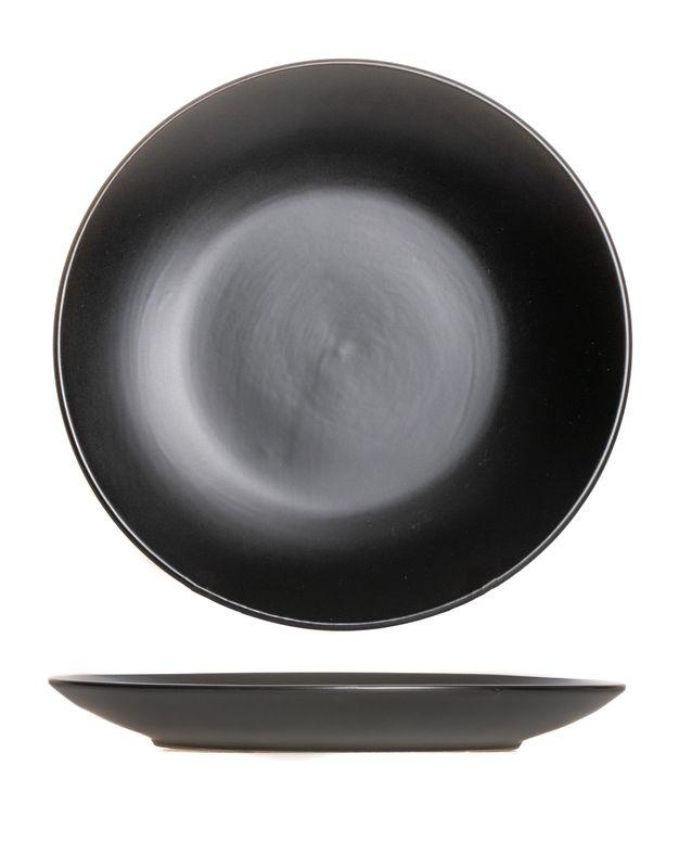 Ontbijtborden Black Tie Ø 21 cm - 4 Stuks