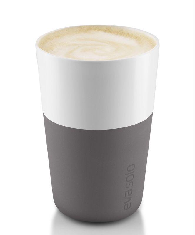 Eva Solo Cafe Latte Mok Grijs 36 cl - 2 Stuks