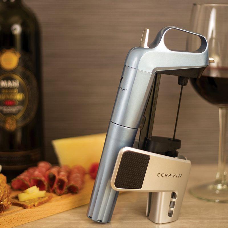 Coravin wijnsysteem blauw sfeer