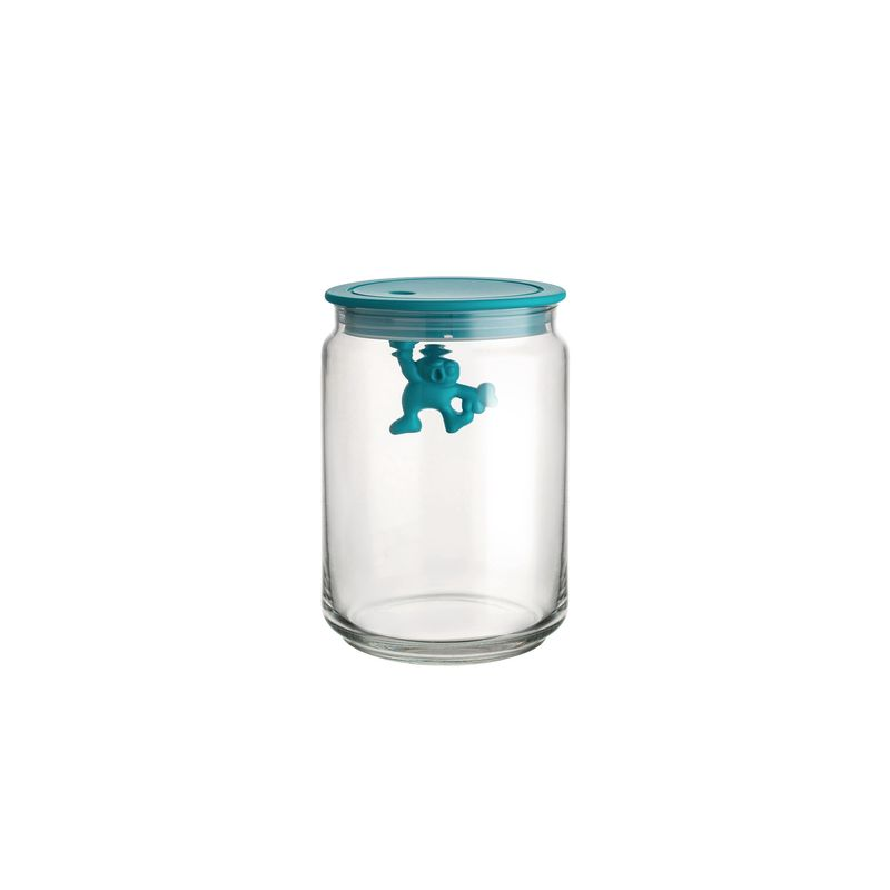 Alessi Voorraadpot Gianni A Little Man Holding On Tight AMDR05 - blauw