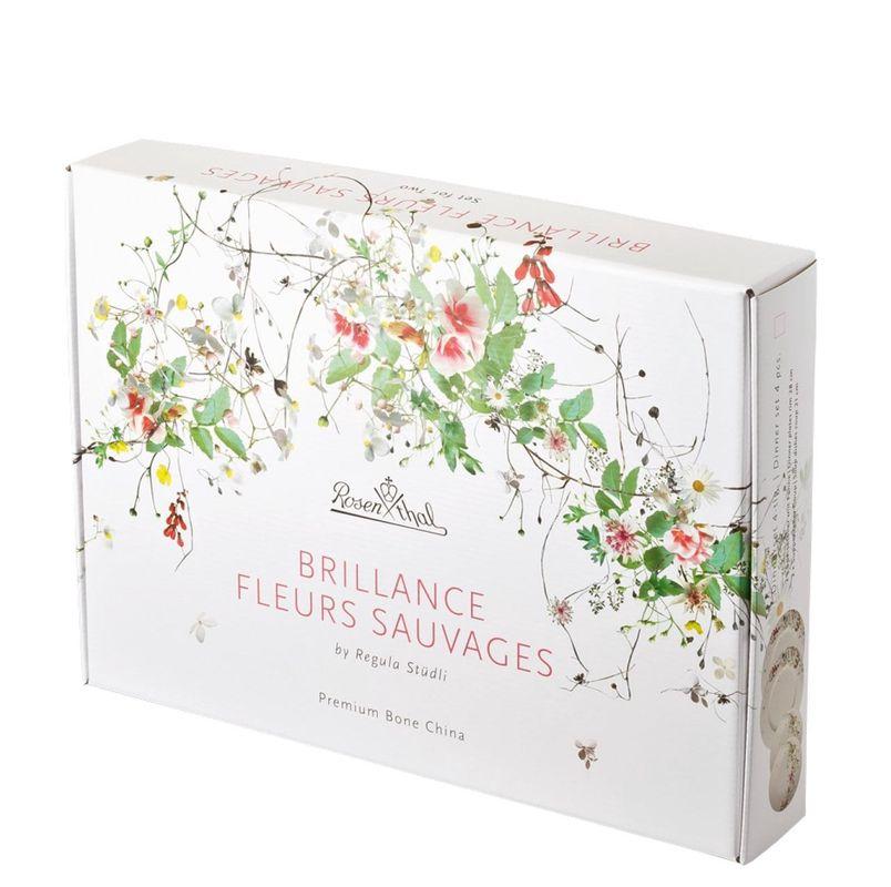 Rosenthal Brillance Fleurs Sauvages 4-delige bordenset