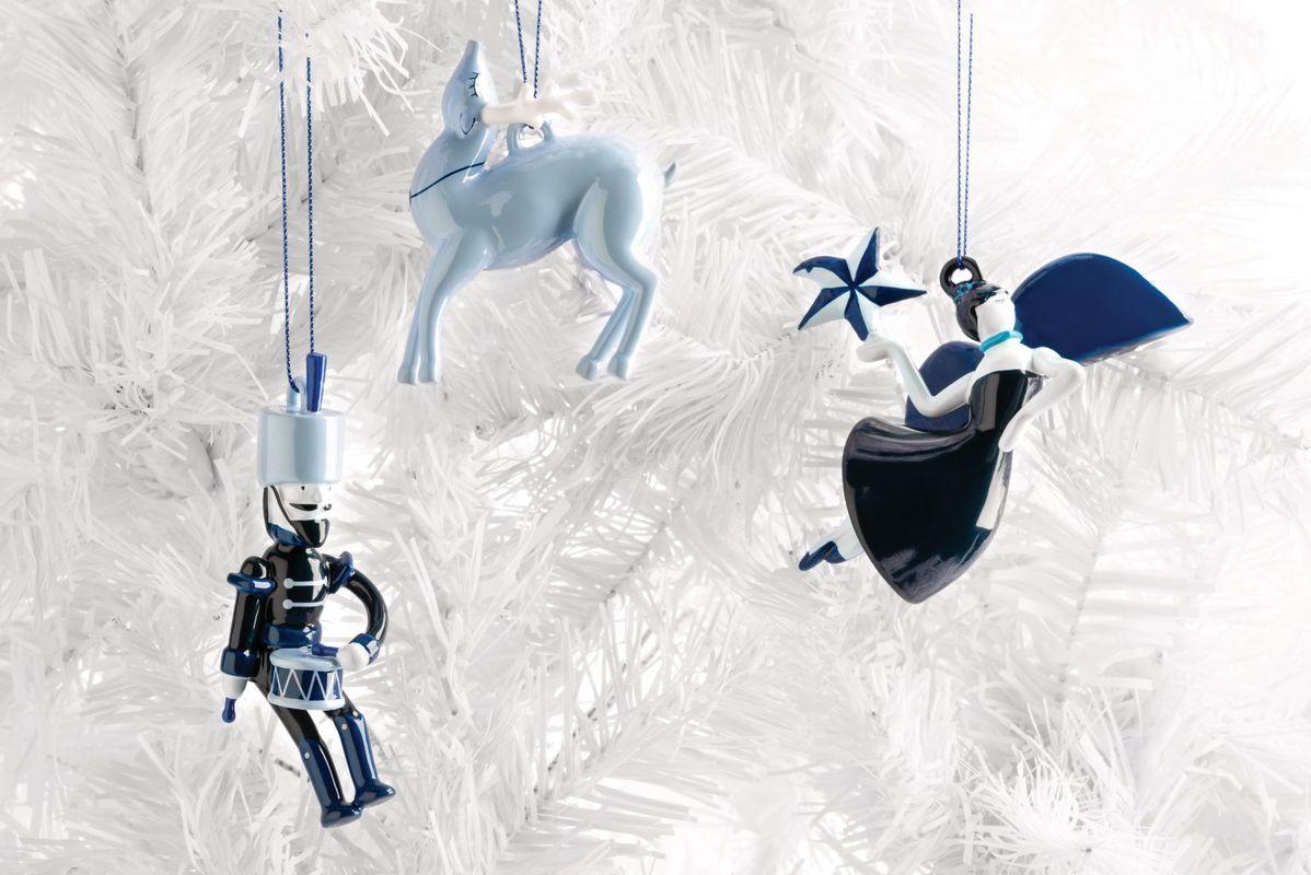 Alessi Kerstfiguur Blue Christmas Rendier