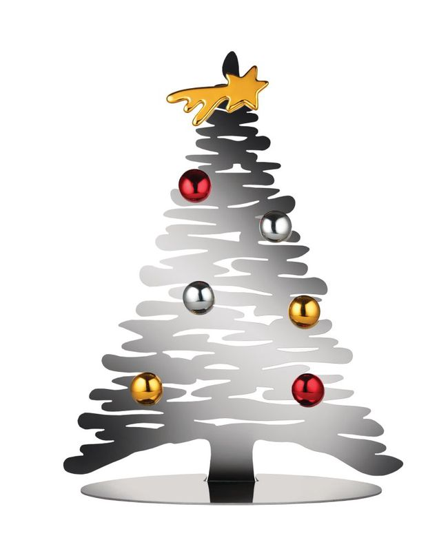 Alessi Kerstboom Bark Zilver