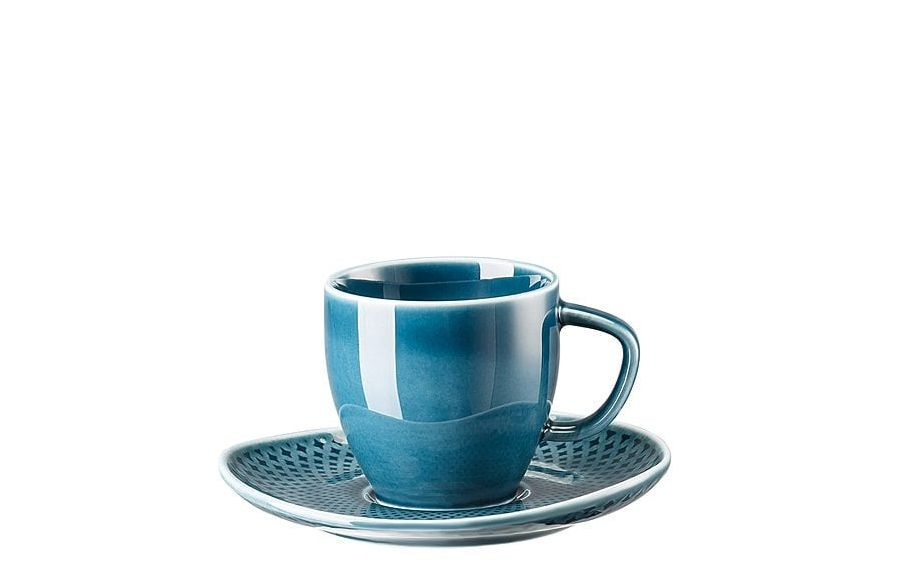 Rosenthal Junto espressokop en schotel  - ocean blue