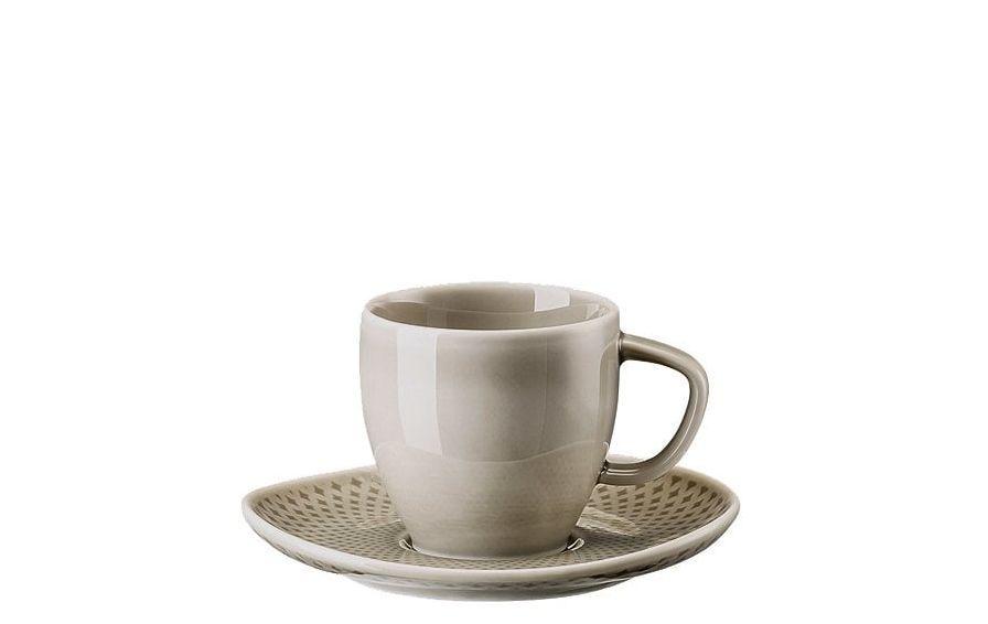 Rosenthal Junto espressokop en schotel  - pearl grey