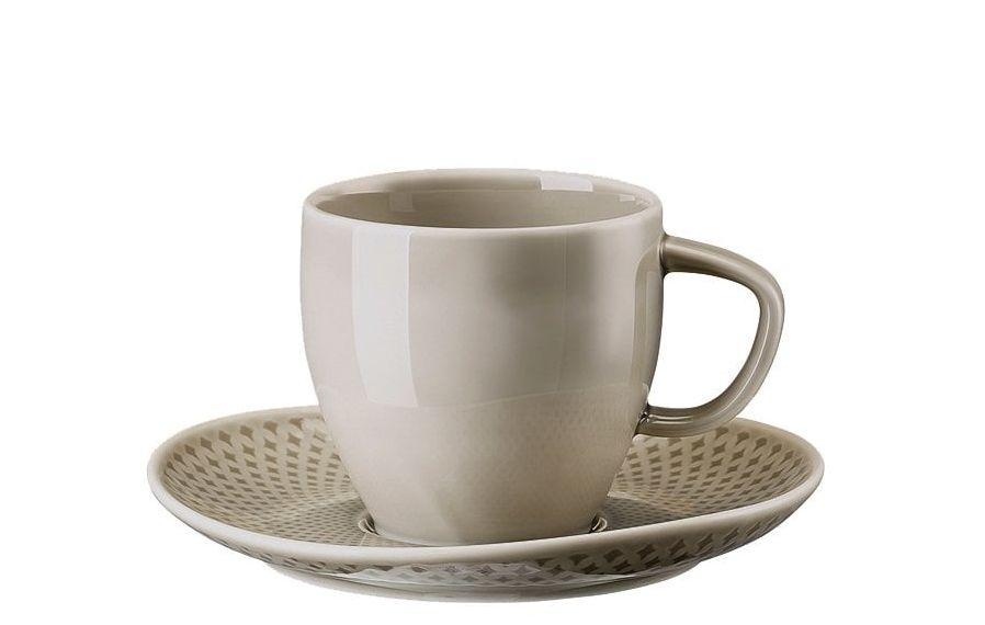Rosenthal Junto koffiekop en schotel - pearl grey