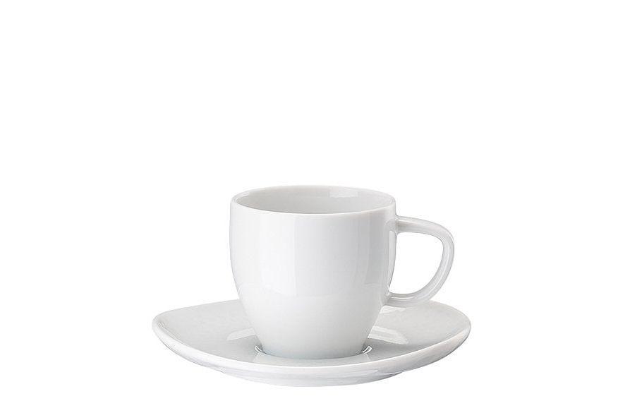 Rosenthal Junto espressokop en schotel  - wit