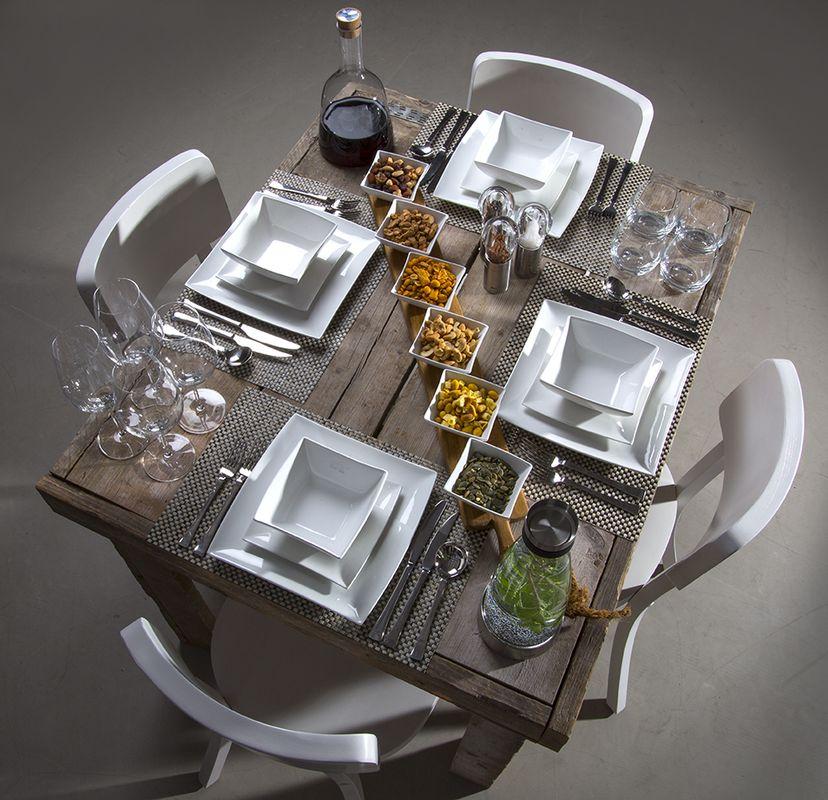 Eastmeets west gedekte tafel