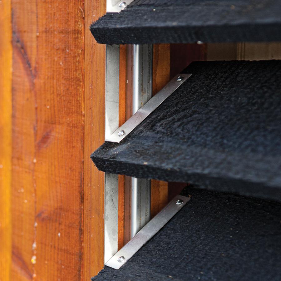Rotatable blinds double rails