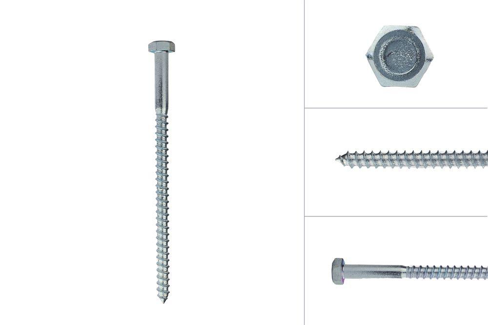Tire-fonds galvanisés M8 x 140 mm - Par 10 pièces