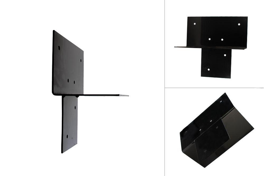 Pergola Dreiwegverbindung schwarz pulverbeschichtet 15 x 15 cm